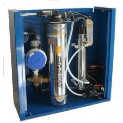 Impianto di multifiltrazione acqua per il settore domestico, con lampada uv e filtro a carbone attivo