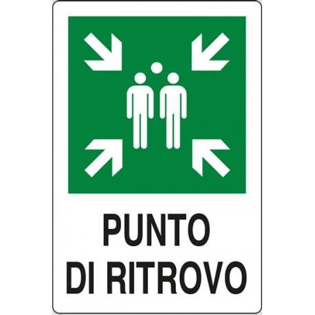 CARTELLO ALLUMINIO PUNTO DI RITROVO MIS. 300X200