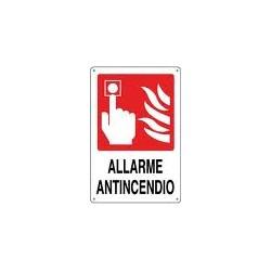 PULSANTE ALLARME  ANTINCENDIO MIS. 180X120 ALLUMINIO
