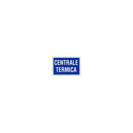 CARTELLO ALLUMINIO CENTRALE TERMICA MIS. 300X200