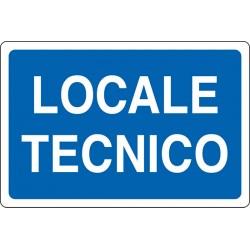 CARTELLO ALLUMINIO LOCALE TECNICO MIS.300X200