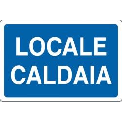 CARTELLO ALLUMINIO LOCALE CALDAIA MIS.300X200