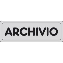CARTELLO ADESIVO ARCHIVIO  MIS. 165X50
