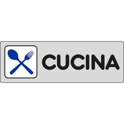 CARTELLO ADESIVO CUCINA  MIS. 165X50
