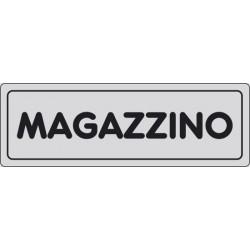 CARTELLO ADESIVO MAGAZZINO MIS. 165X50