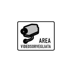 CARTELLO ADESIVO ADESIVO AREA VIDEO SORVEGLIATA MIS. 300X200