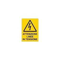 CARTELLO ALLUMINIO LINEE IN TENSIONE  MIS.150X175