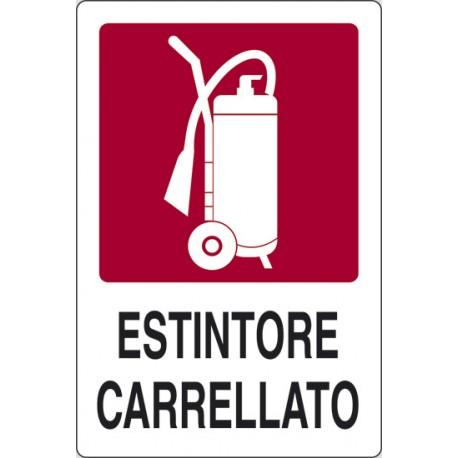CARTELLO ALLUMINIO ESTINTORE CARRELLATO 230 X 290
