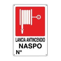 CARTELLO ALLUMINIO NASPO N°.... MIS.290X230