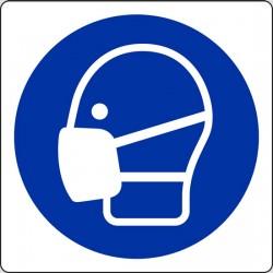 CARTELLO ALLUMINIO è obbligatorio indossare la maschera - wear a mask) MIS. 200X200