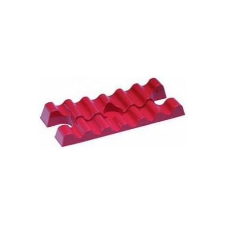 Gocciolatore salvamanichetta in materiale plastico rosso.
