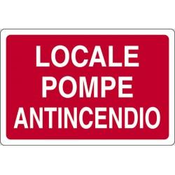 CARTELLO ALLUMINIO LOCALE POMPE ANTINCENDIO MIS.300X200