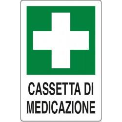 CARTELLO ALLUMINIO CASSETTA DI MEDICAZIONE MIS. 300x200