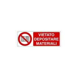 VIETATO DEPOSITARE MATERIALE 330X125 mm ALLUMINIO
