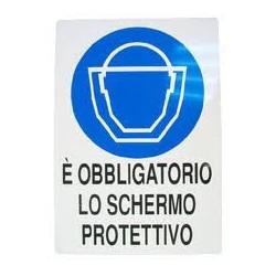CARTELLO ALLUMINIO E' OBBLIGATORIO LO SCHERMO PROTETTIVO MIS. 300X200